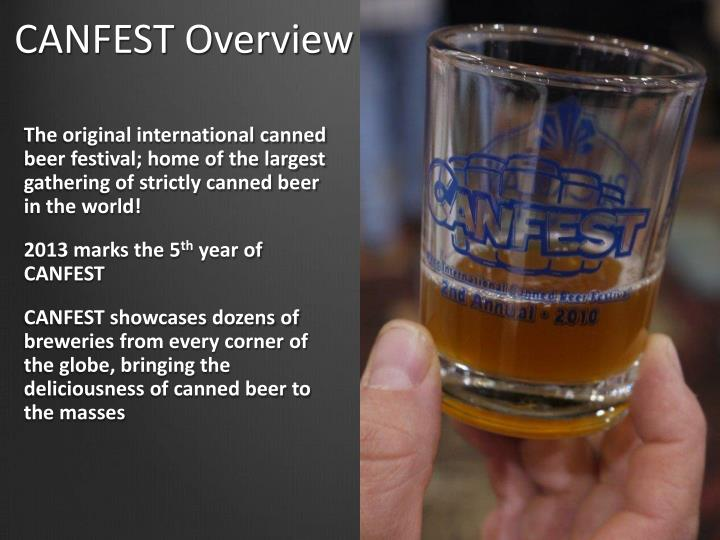 Canfest overview