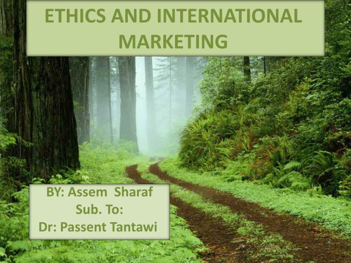 ethics and international marketing n.