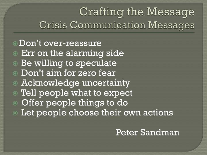 Crafting the Message