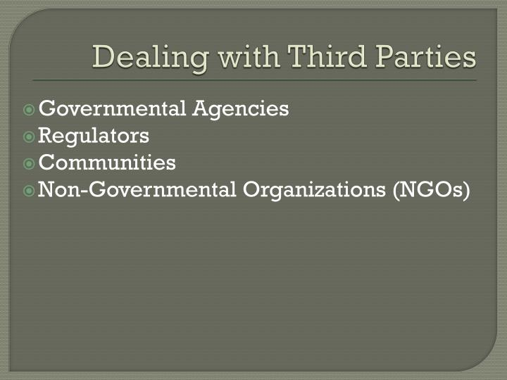 Dealing with Third Parties