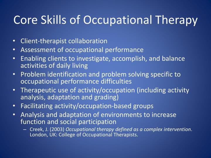 occupational therapy client analysis