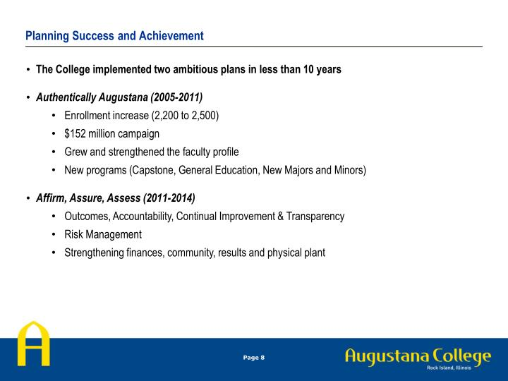 Planning Success and Achievement