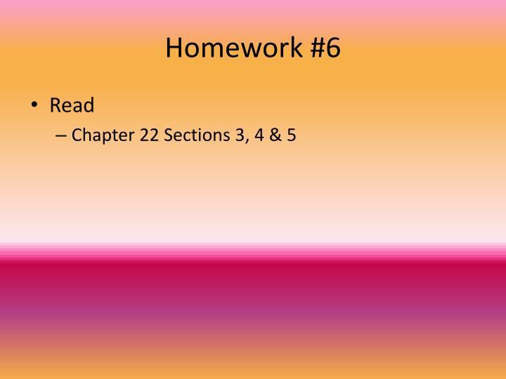 Homework #6