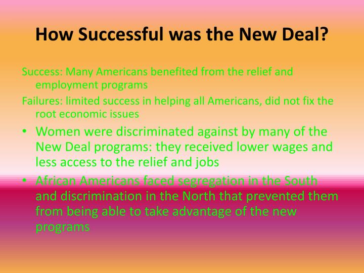 How Successful was the New Deal?