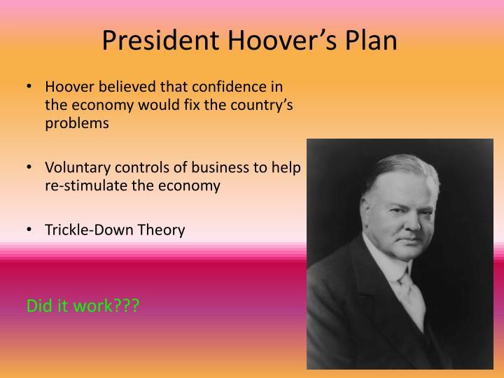 President Hoover's Plan