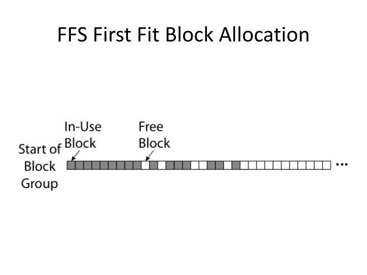 FFS First Fit Block Allocation