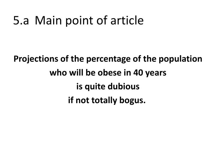 5.aMain point of article