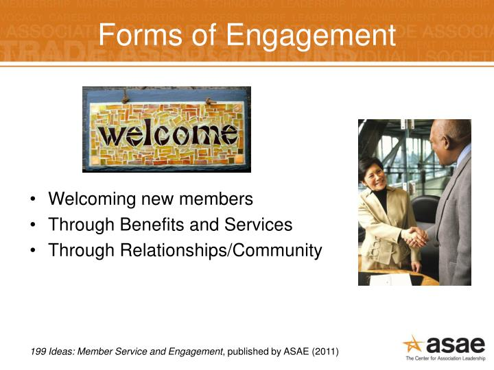 Forms of Engagement