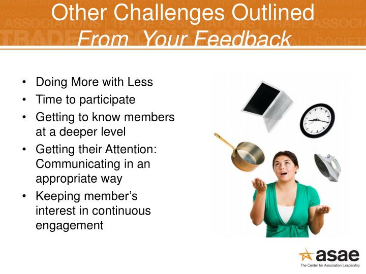 Other Challenges Outlined