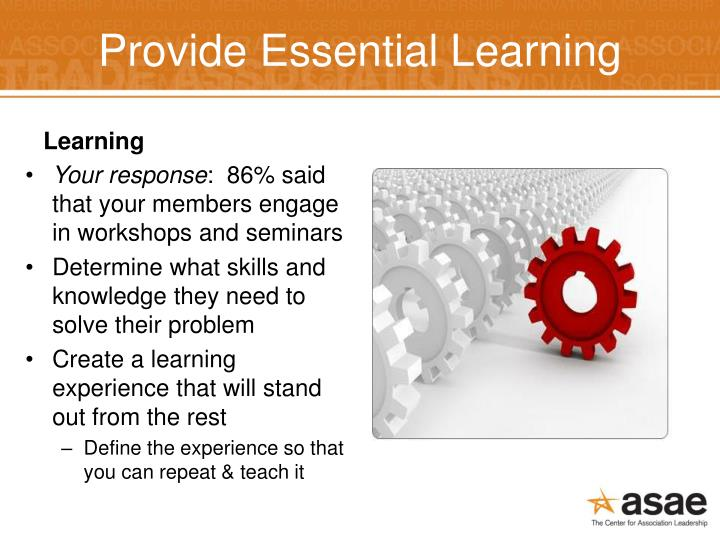 Provide Essential Learning