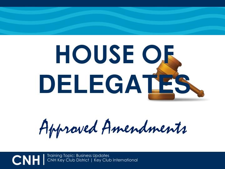 Approved Amendments