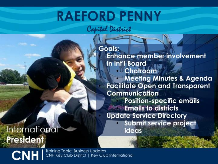 Raeford penny capital district