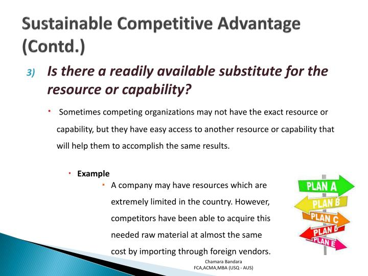 examples of companies with sustainable competitive advantage