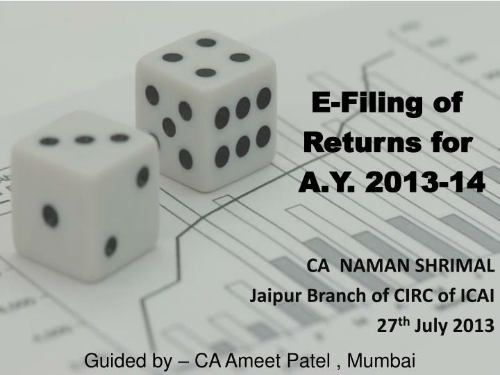 e filing of returns for a y 2013 14 n.