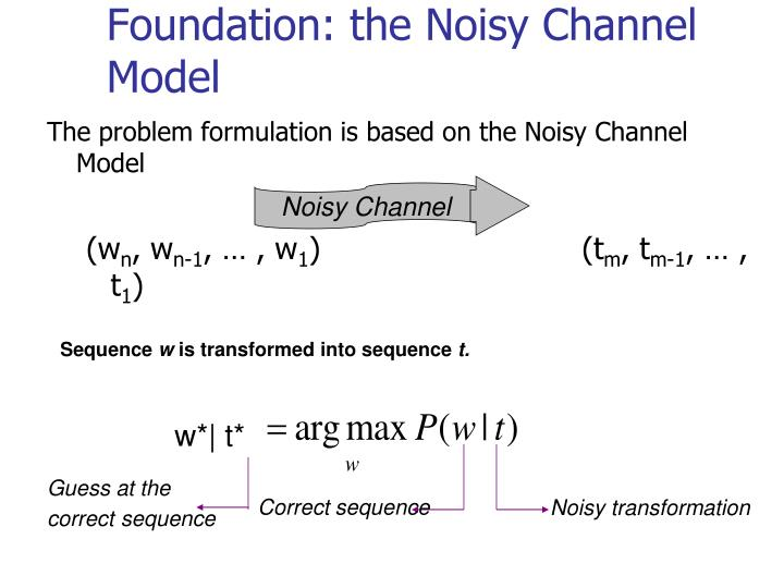 Foundation: the Noisy Channel Model