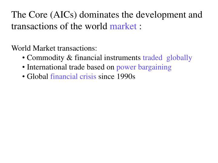 The Core (AICs) dominates the