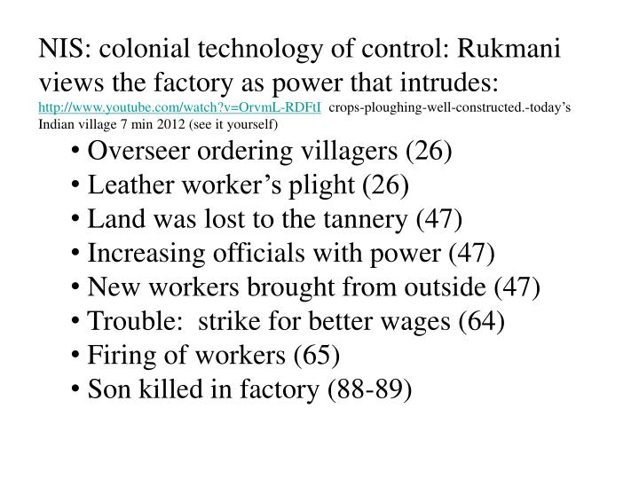 NIS: colonial technology of control: