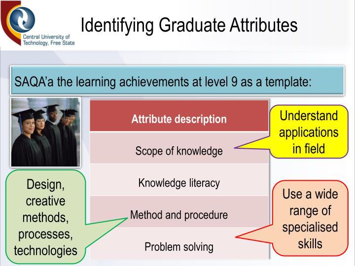 Identifying Graduate Attributes