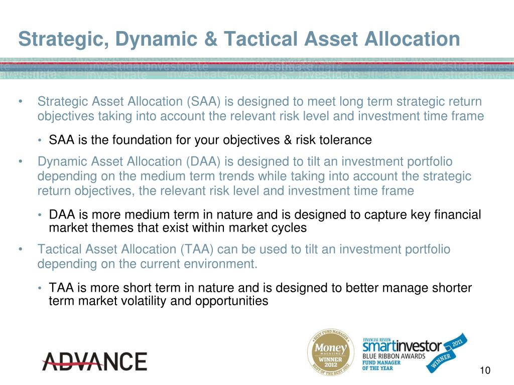 PPT - Asset Allocation & Risk Management in a Highly