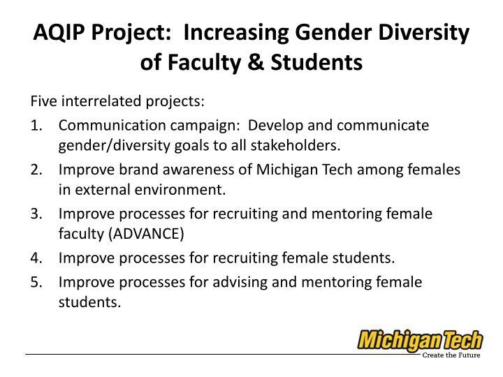 AQIP Project:  Increasing Gender Diversity