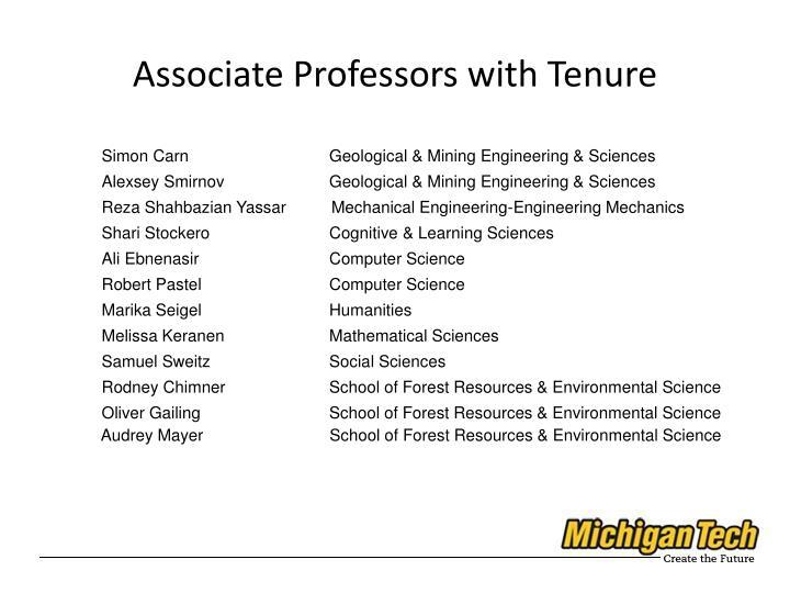 Associate Professors with Tenure