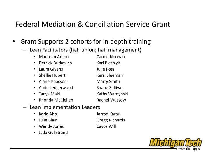Federal Mediation & Conciliation Service Grant