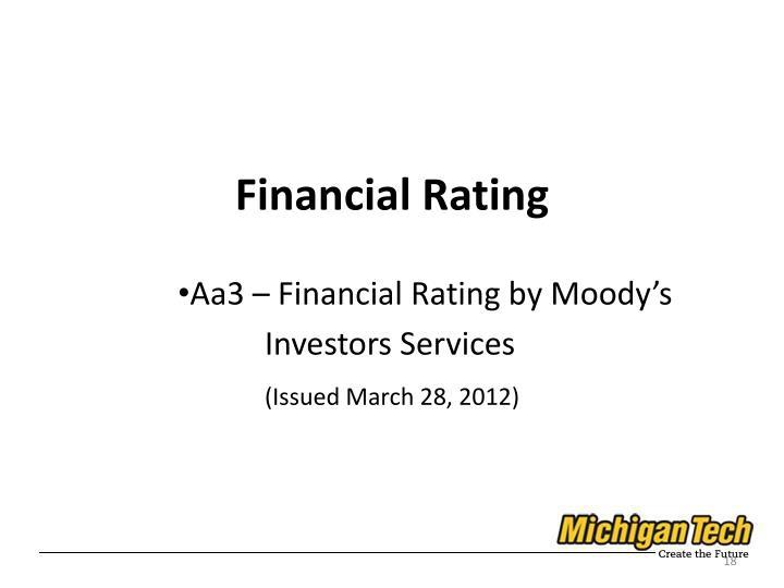 Financial Rating