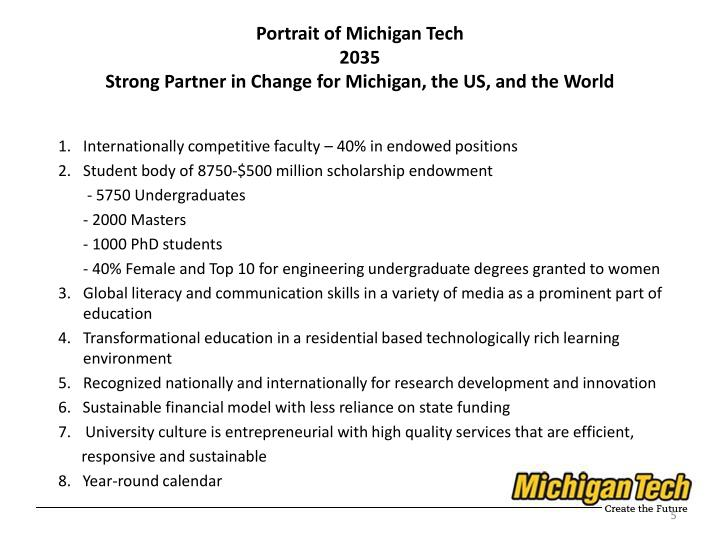 Portrait of Michigan Tech