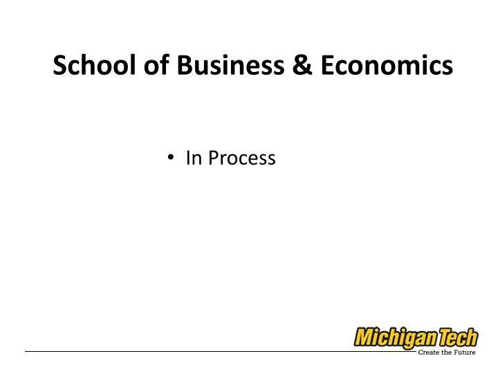 School of Business & Economics