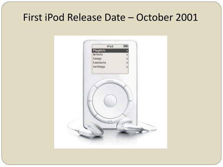 First iPod Release Date – October 2001