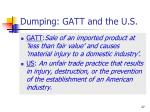 dumping gatt and the u s