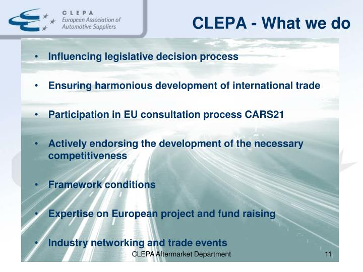 CLEPA - What we do