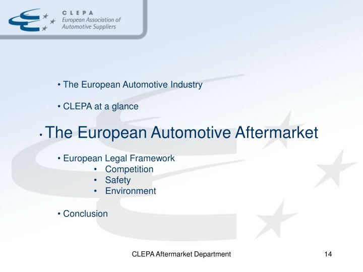 The European Automotive Industry