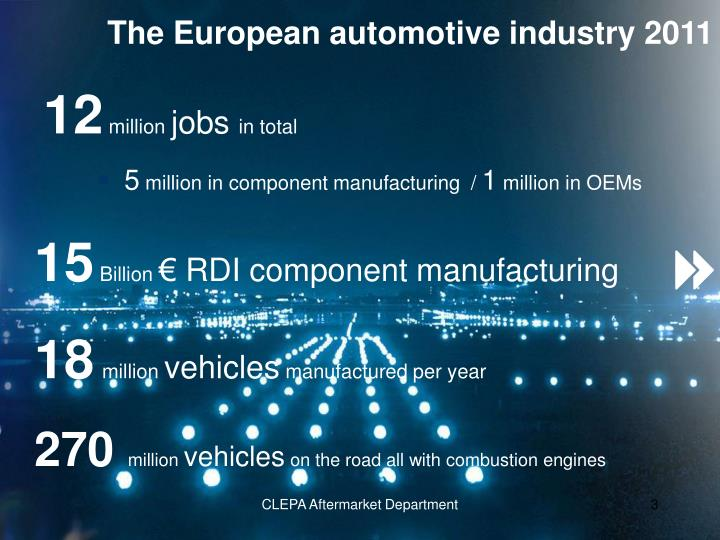 The European automotive industry 2011