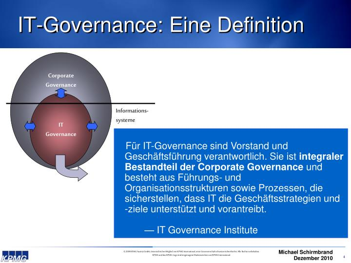 IT-Governance: Eine Definition
