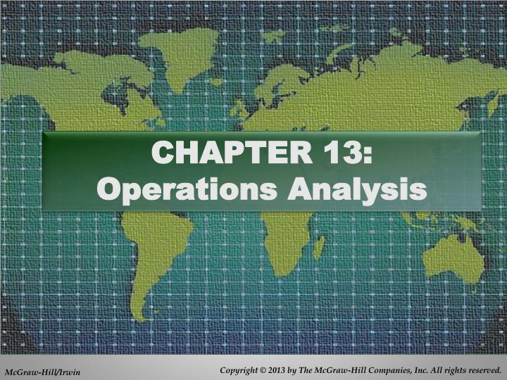 chapter 13 operations analysis n.