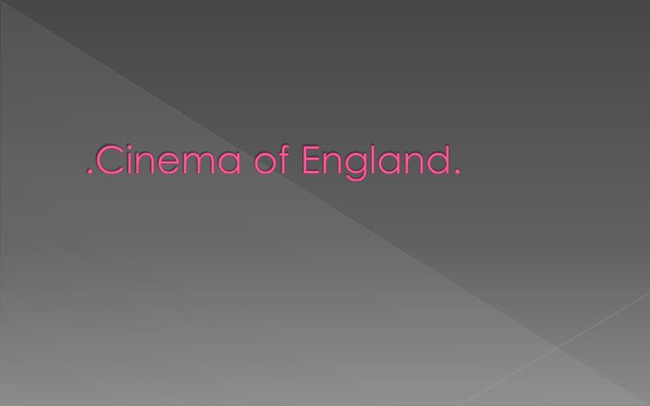 cinema of england
