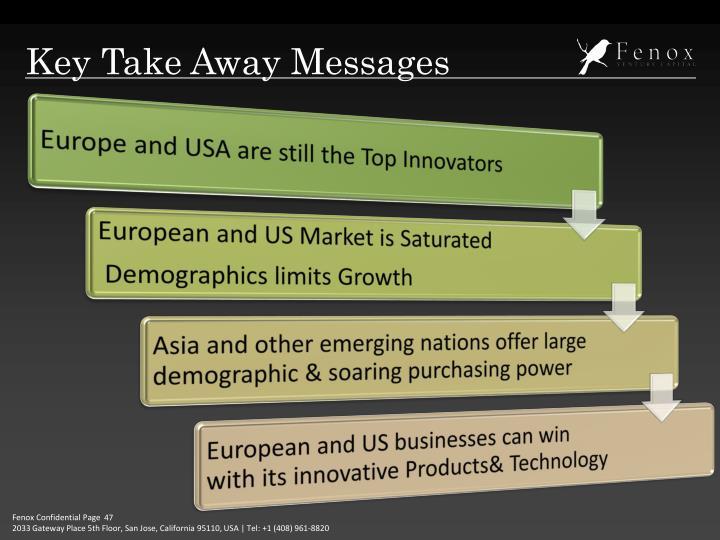 Key Take Away Messages