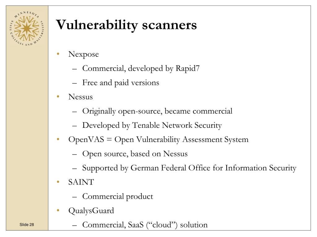 PPT - An Introduction to Vulnerability Management PowerPoint