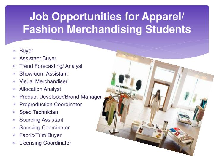 choosing the career paths of an architecture of fashion merchandising Fashion merchandising fashion merchandising is the study of all aspects of the business of marketing and distributing clothing and accessories to wholesale and retail outlets most often offered as a two-year associate degree program, it is available at a few four-year institutions and may lead to a bachelor of professional studies degree.