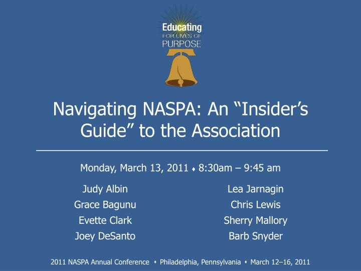navigating naspa an insider s guide to the association n.