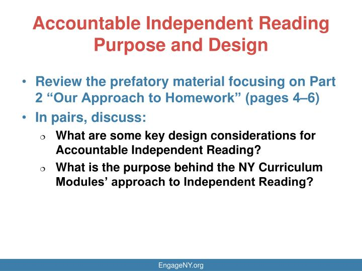 Accountable Independent Reading