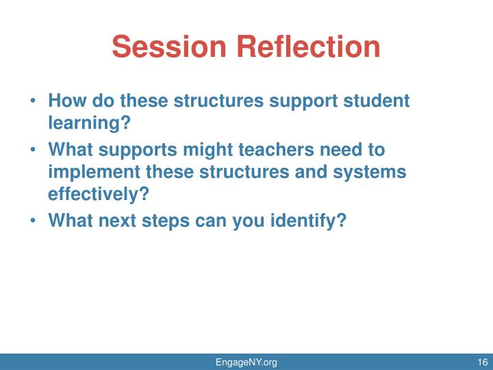 Session Reflection