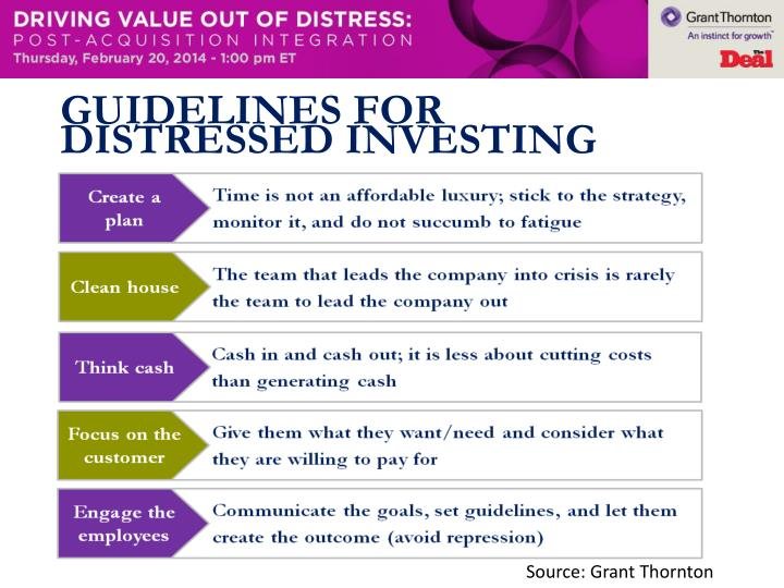 Guidelines for distressed investing