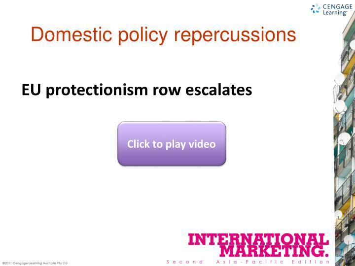 EU protectionism row escalates