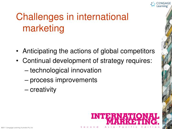 Anticipating the actions of global competitors