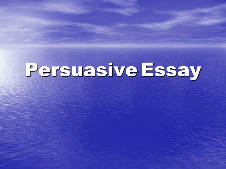 fun persuasive essay Structure and organization are integral components of an effective persuasive essay no matter how intelligent the ideas, a paper lacking a strong introduction, well-organized body paragraphs and an insightful conclusion is not an effective paper.