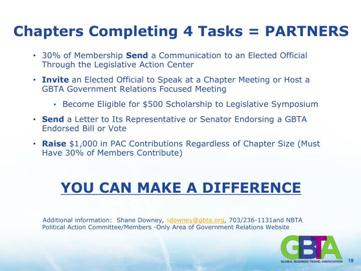 Chapters Completing 4 Tasks = PARTNERS