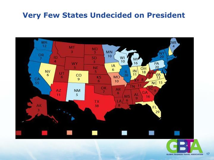 Very Few States Undecided on President