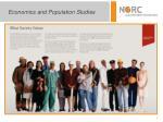 economics and population studies